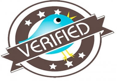 I would like my Twitter account to be verified