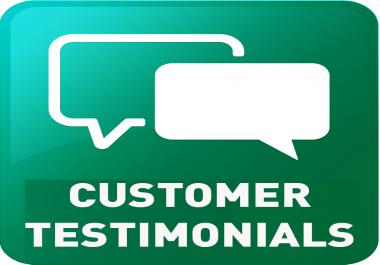 Customer Testimonial Verification
