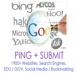 Ping + submit + backlinks to your site to over 12800+ sites