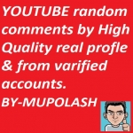 25 High quality profiles YT video Unique comments manually. Doing by me