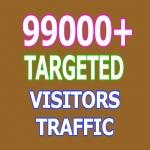99000 Keyword Targeted Visitors Traffic to Website