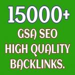 Provide 15000 GSA SEO Backlinks High Quality