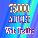 75000 Targeted HQ ADULT Web Traffic