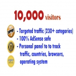 10,000 TARGETED USA & European visitors to your site