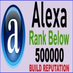 Build REPUTATION - Boost ALEXA RANK - Global Alexa rank below 500,000 in 30 Days