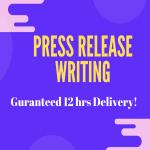 Newsworthy Press Release Writing in 12 hrs